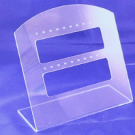 2 Clear Acrylic Earring Display Stand